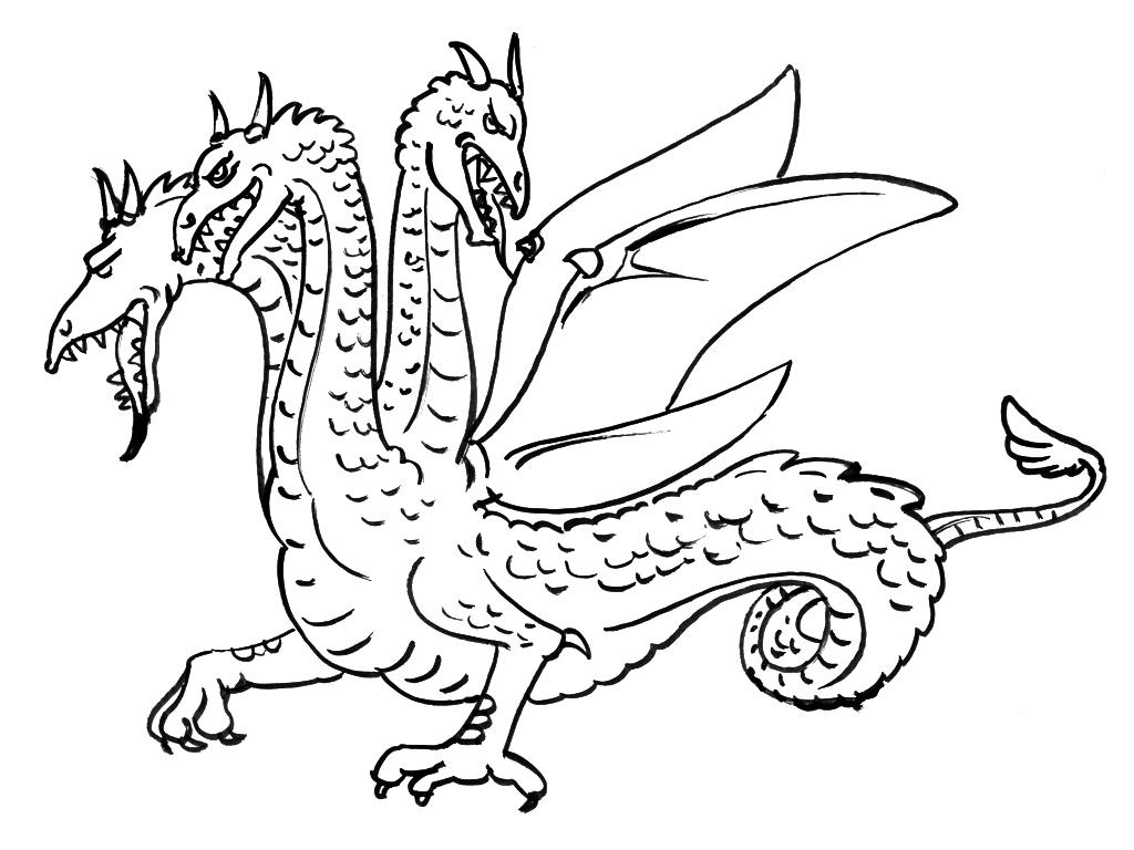 coloriage à dessiner dragon electrique