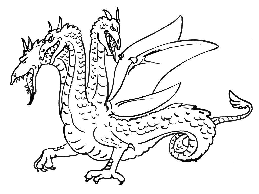 Dessin dragon 2 alpha - Coloriage alpha ...