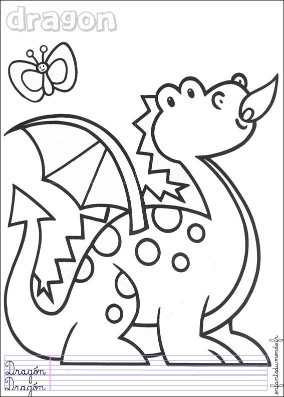 dessin dragon et princesse