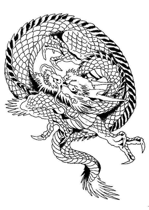 coloriage à imprimer dragon