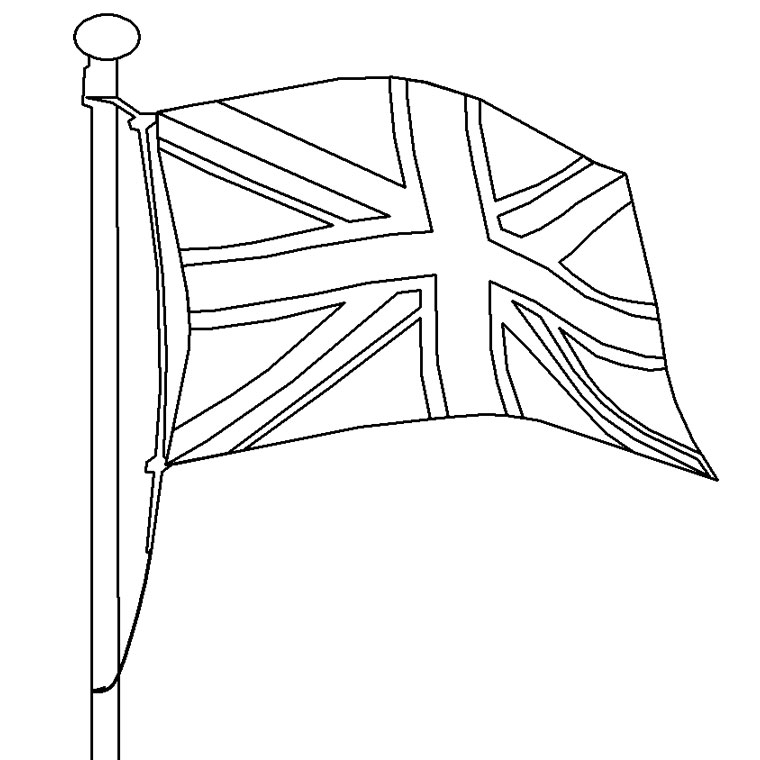 coloriage à dessiner drapeau angleterre