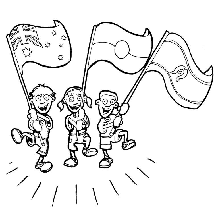 dessin à colorier drapeau etats unis