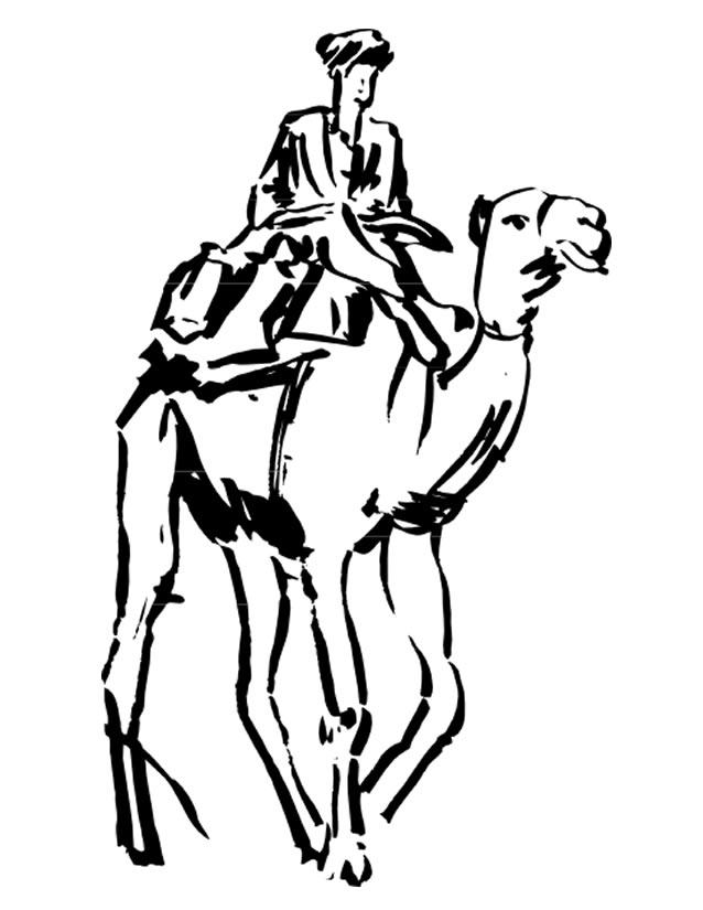 Coloriage dessiner dromadaire chameau - Dessiner un chameau ...