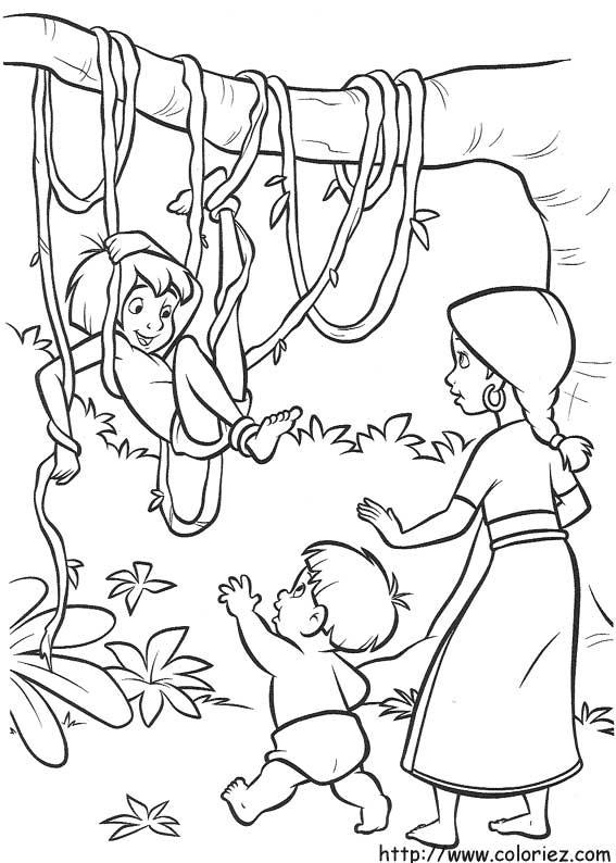 20 dessins de coloriage Du Livre De La Jungle à imprimer