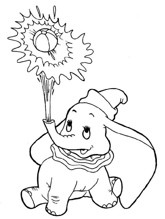 All about Dumbos Circus Coloring Page Disney Family - kidskunst.info
