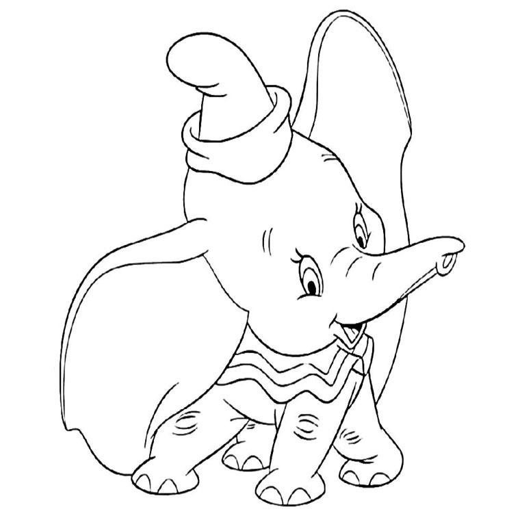 coloriage à dessiner dumbo a imprimer