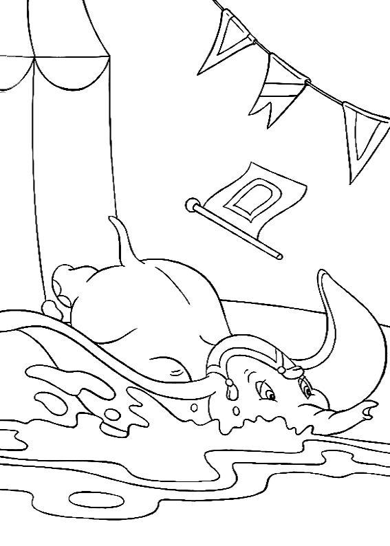 coloriage à dessiner imprimer dumbo