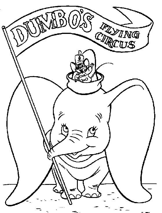 dessin dumbo a imprimer