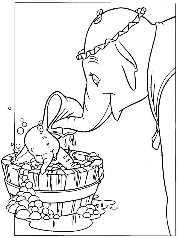 image dumbo coloriage
