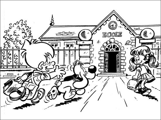 9 dessins de coloriage cole rentr e imprimer - Dessin rentree ...
