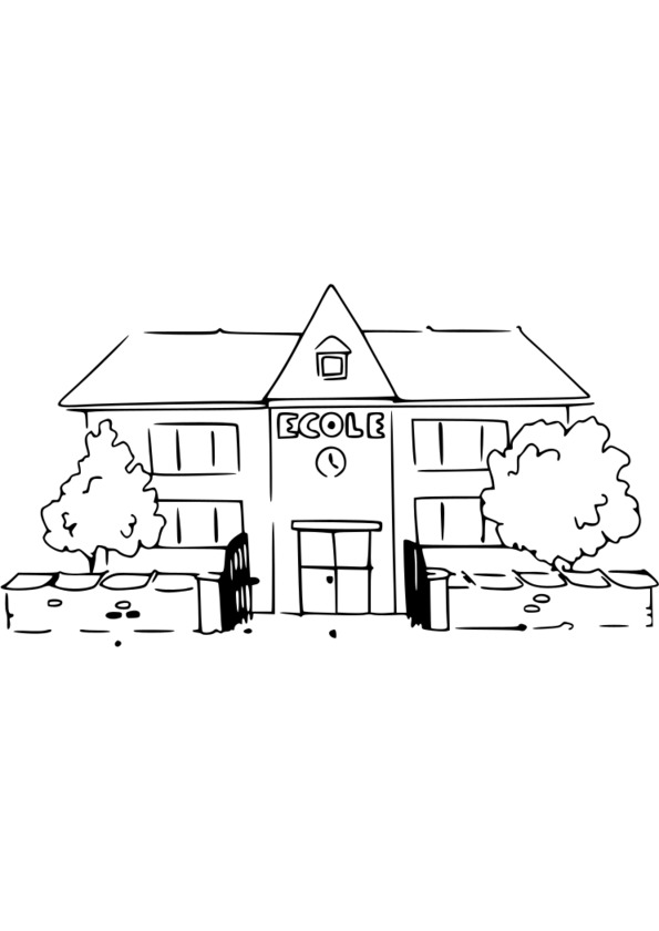 Souvent 139 dessins de coloriage École à imprimer WK44