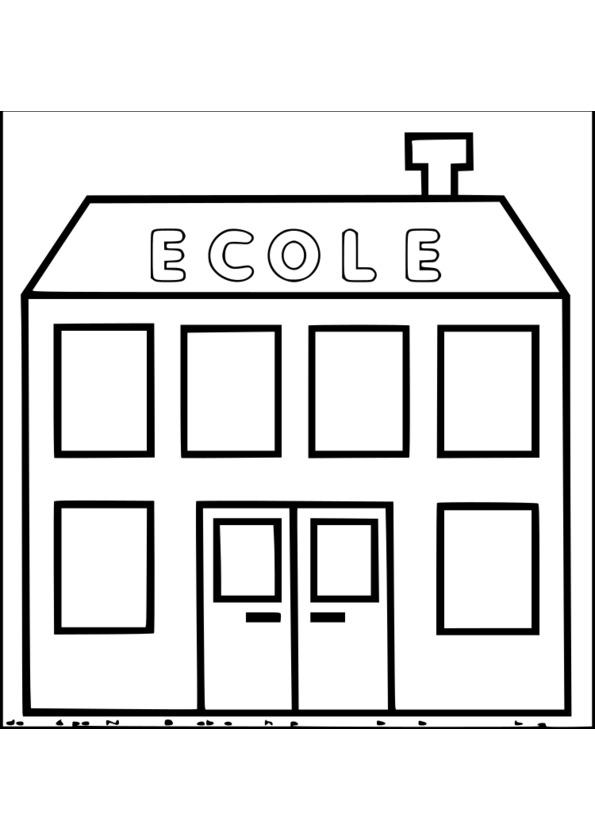 153 Dessins De Coloriage Ecole A Imprimer