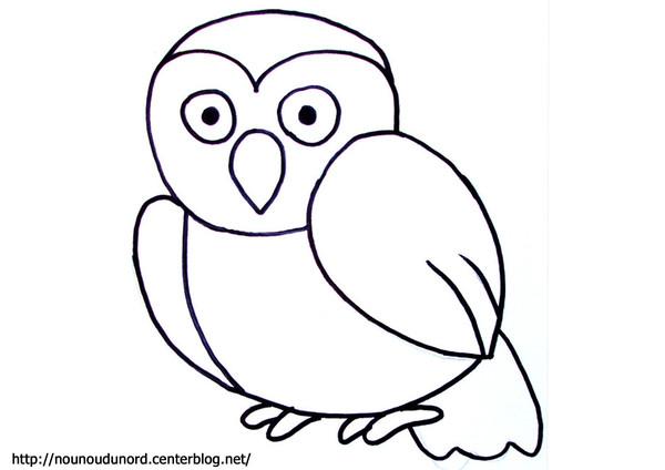 8 dessins de coloriage cureuil facile imprimer - Dessins de chouette ...
