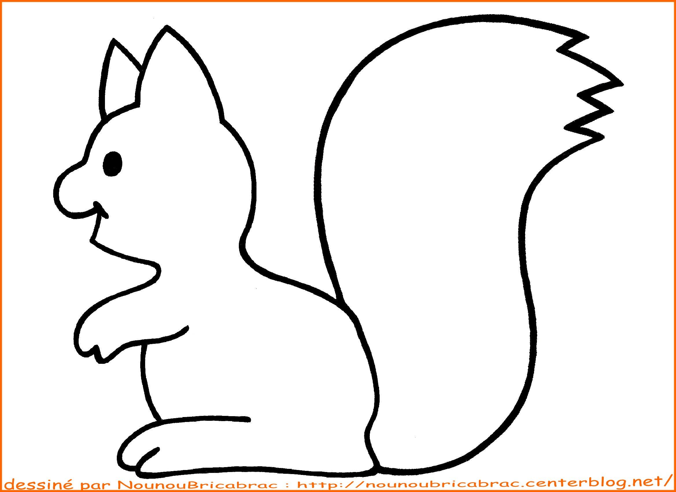 Coloriage204 Coloriage écureuil à Imprimer