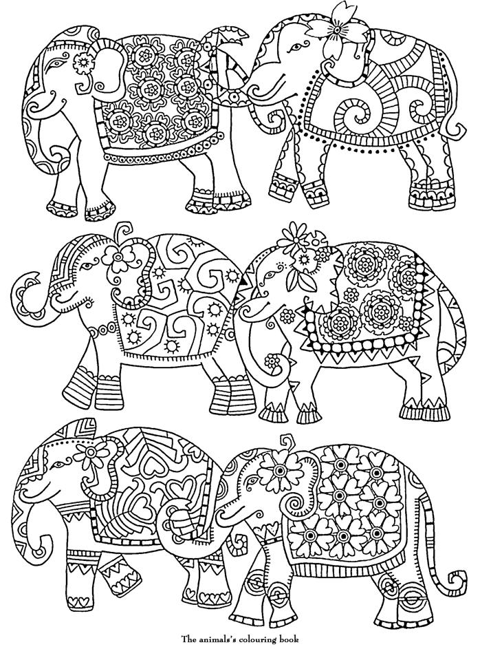 11 dessins de coloriage l phant inde imprimer - Coloriage magique elephant ...