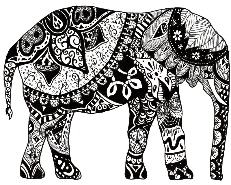 11 dessins de coloriage l phant inde imprimer. Black Bedroom Furniture Sets. Home Design Ideas