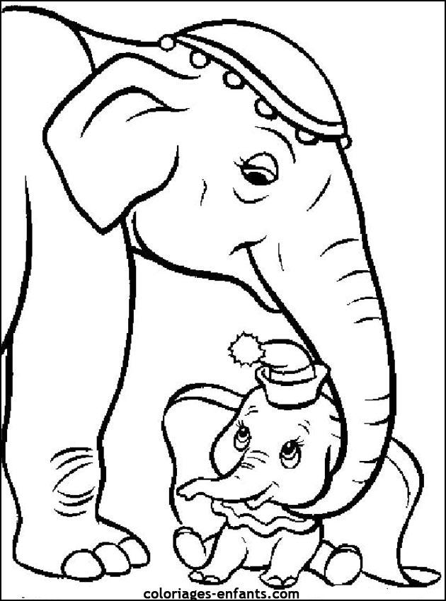Coloriage Famille Elephant.Coloriage A Dessiner Elephant De Mer