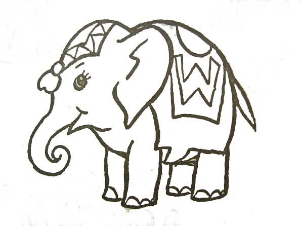 coloriage à dessiner d'elephants imprimer