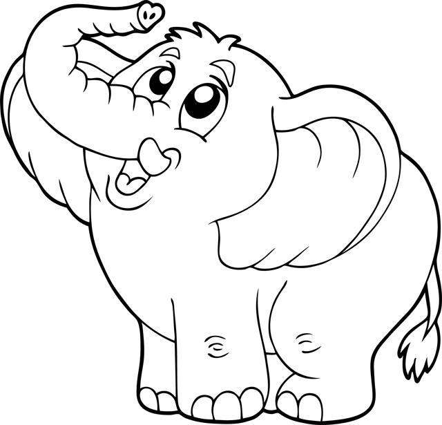 dessin elephant à imprimer gratuit