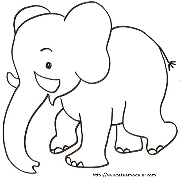 Coloriage Bebe Elephant.Colorier Un Elephant