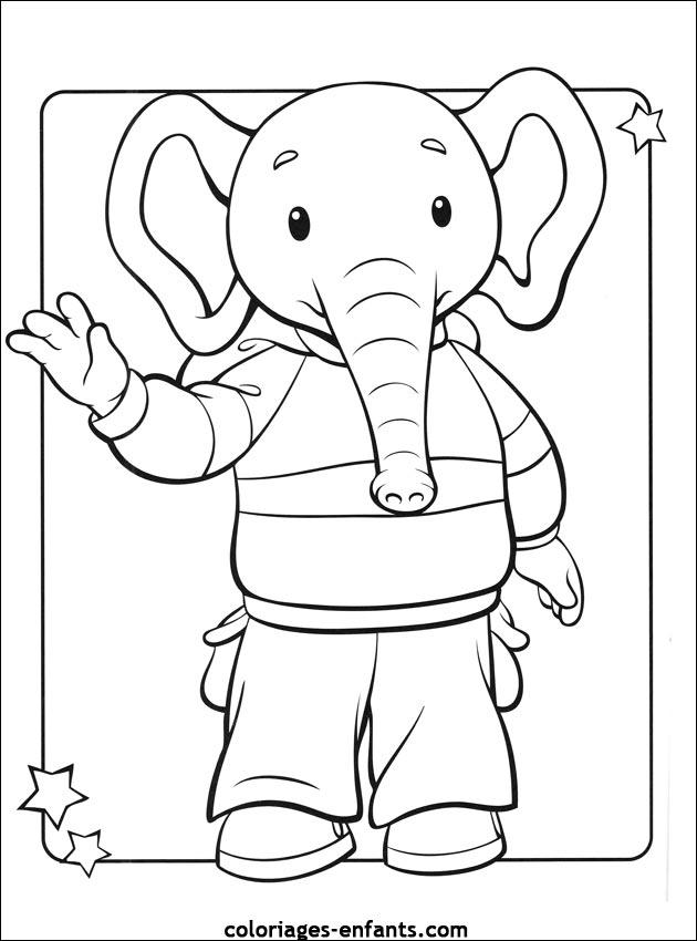 Coloriage d elephant - Elephant a colorier ...