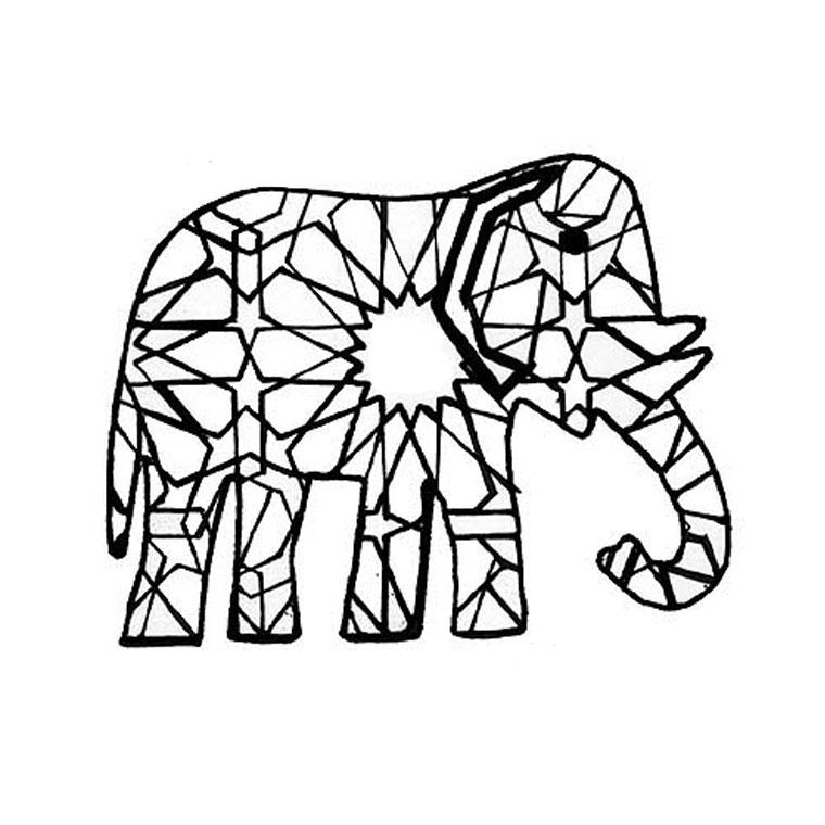 dessin d'éléphant a imprimer