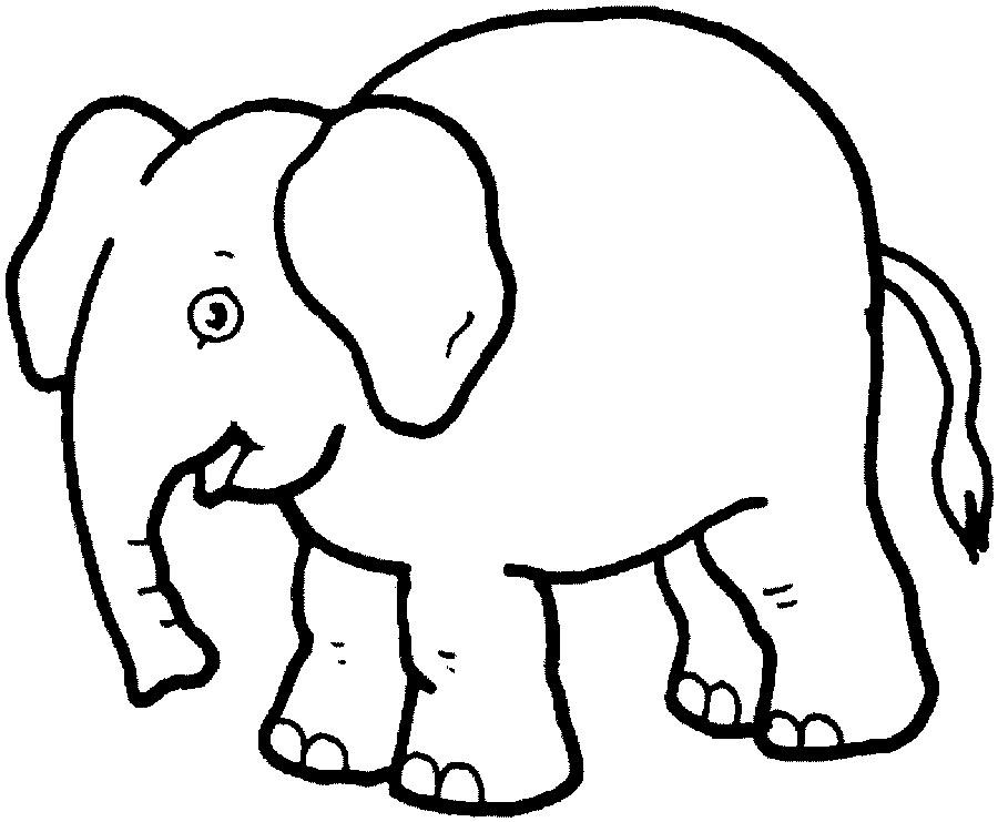 éléphant en coloriage à dessiner