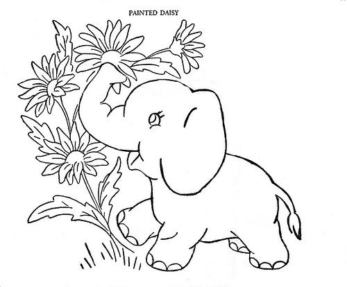 Dessin Bebe Elephant Imprimer