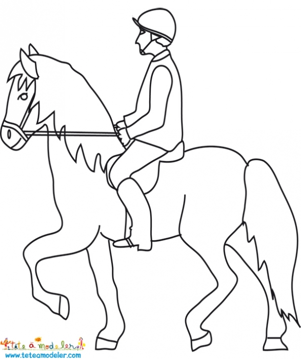 coloriage à dessiner centre equestre playmobil