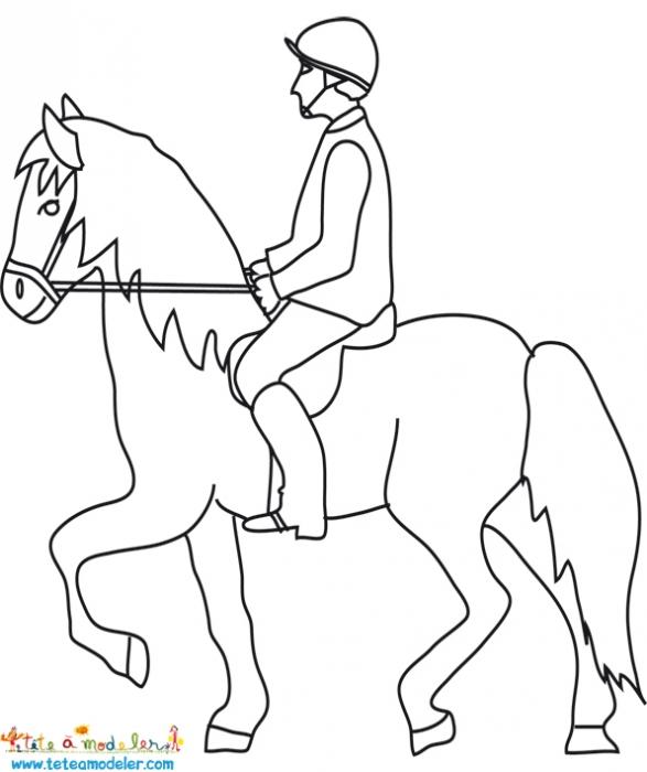 coloriage � dessiner centre equestre playmobil