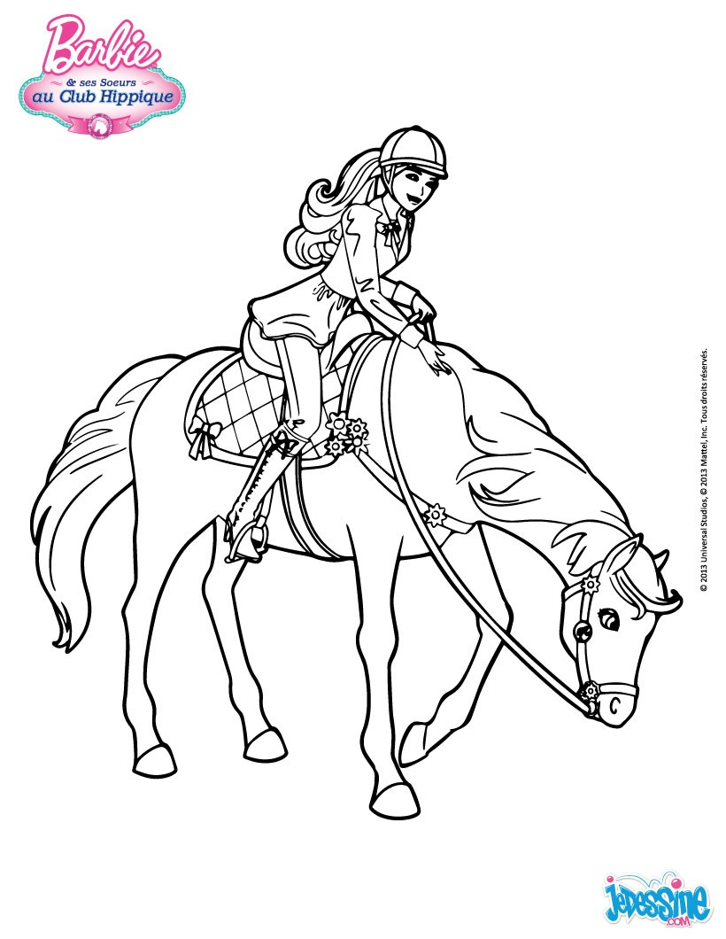 Dessin equitation cheval - Coloriage chevale ...