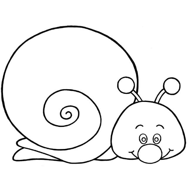 coloriage à dessiner d'escargot à imprimer