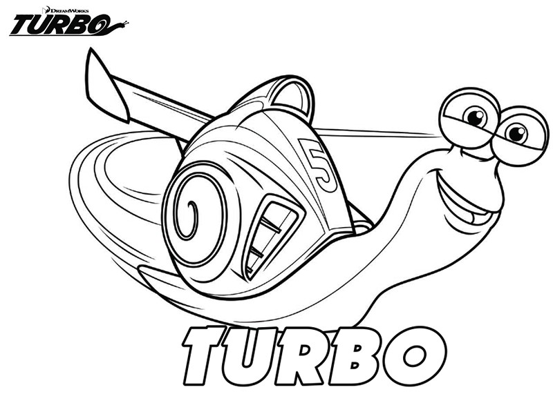 Dessin turbo l 39 escargot gratuit - Coloriages escargot ...