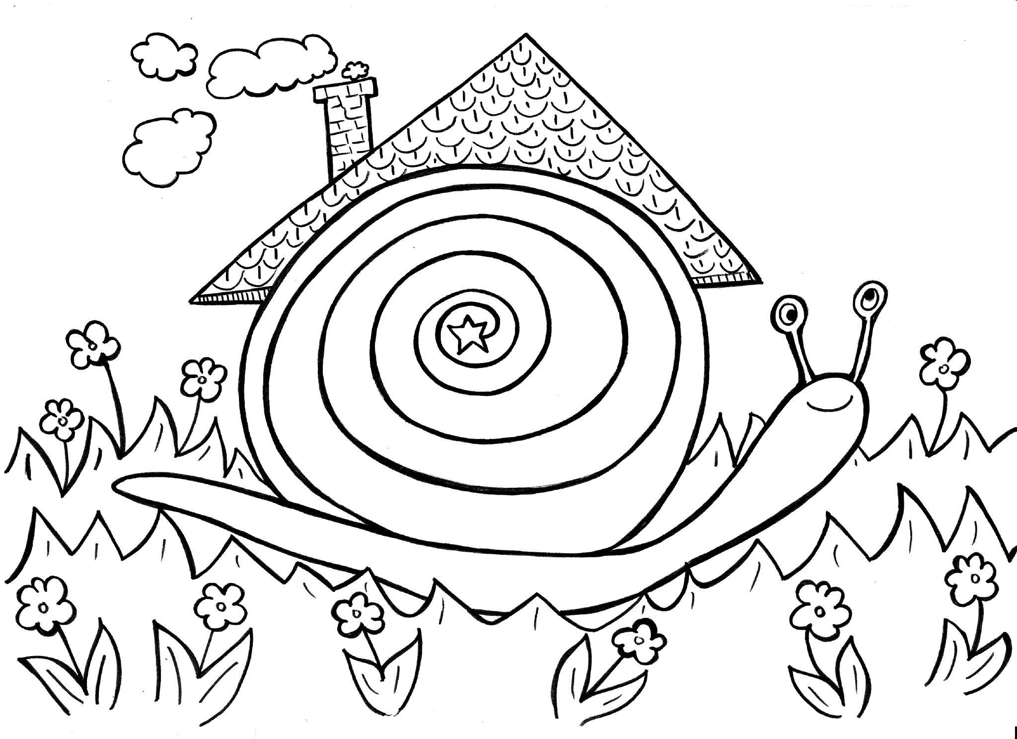 Hugo l 39 escargot dessin chiffres - Coloriage escargot turbo ...
