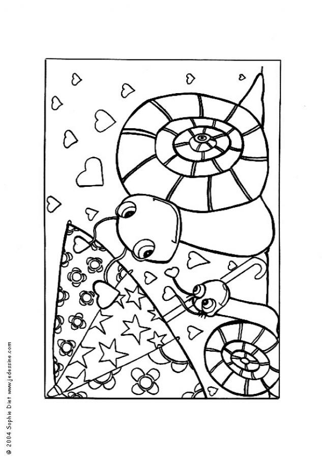 Hugo l 39 escargot dessin dauphin - Coloriages escargot ...