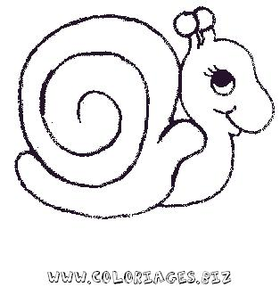 Hugo l 39 escargot dessin chiffres - Coloriages escargot ...
