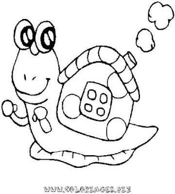93 dessins de coloriage imprimer - Escargot dessin ...