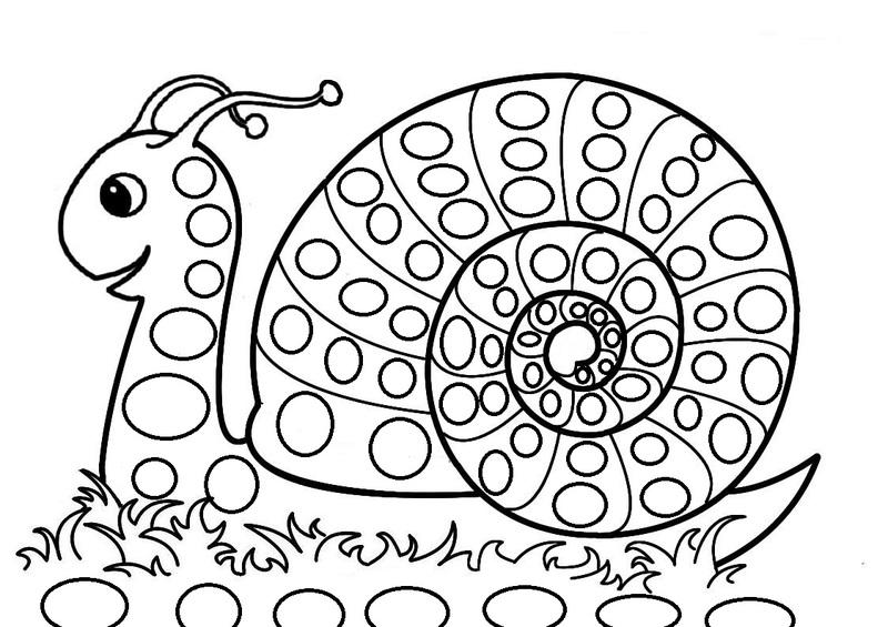 93 dessins de coloriage imprimer - Image escargot a colorier ...