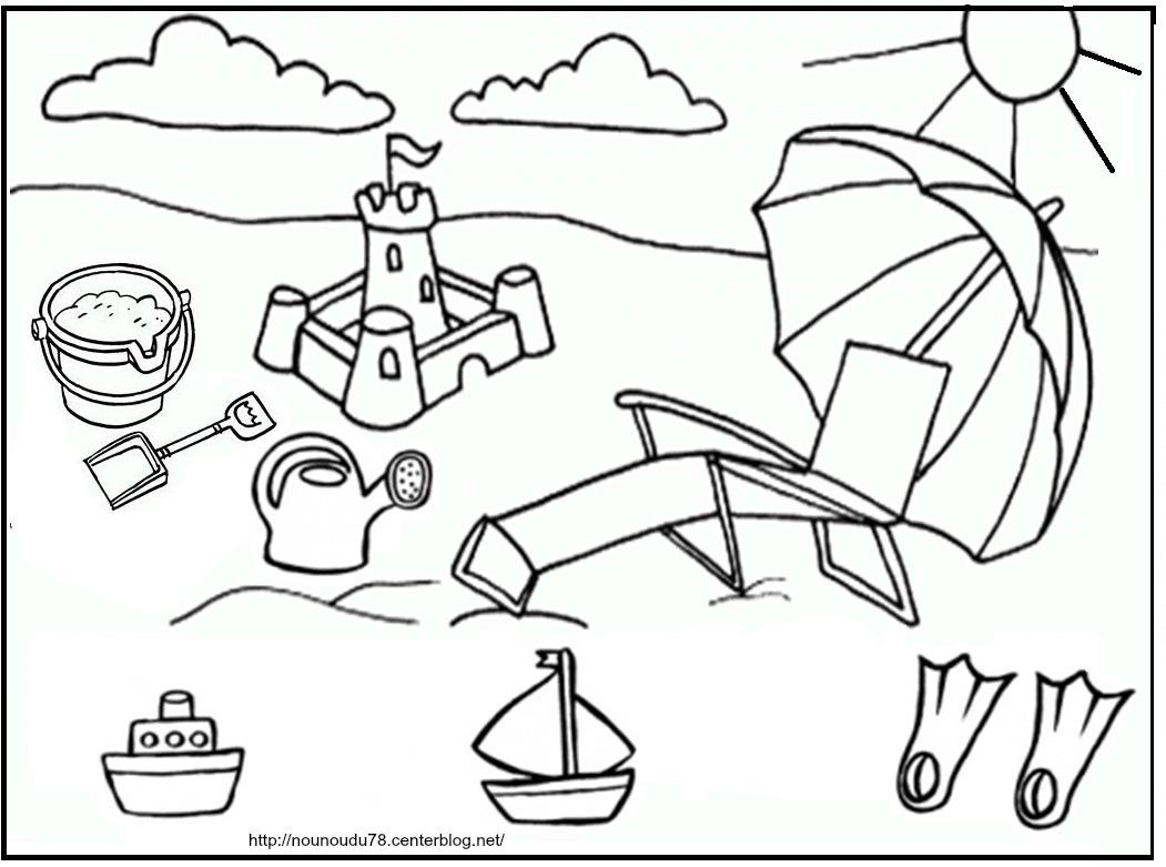 7 dessins de coloriage t maternelle imprimer - Coloriage vive les vacances ...