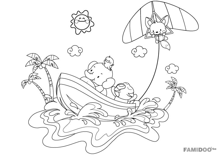dessin d'été gratuit
