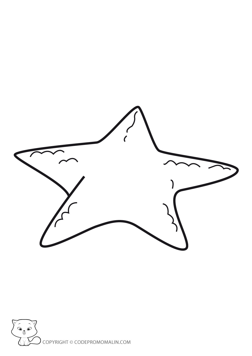 11 dessins de coloriage toile de mer imprimer - Etoile de mer coloriage ...