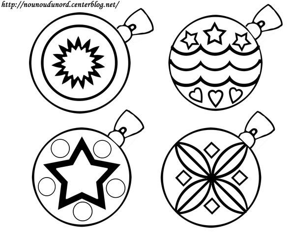 5 dessins de coloriage toile de noel imprimer - Boules de noel a colorier et imprimer ...