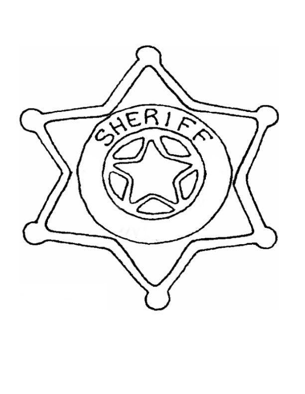 Sheriff\'s Star Template. Vector Template » Police Shield Badge ...