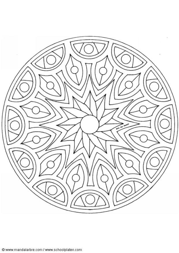 coloriage etoile mandala