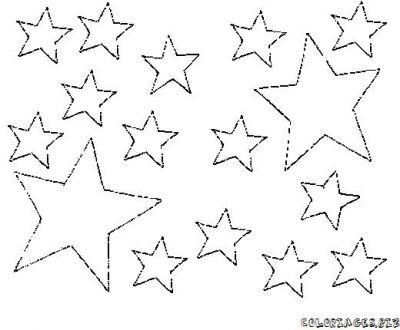 Coloriage dessiner etoile et lune - Dessin a imprimer etoile ...