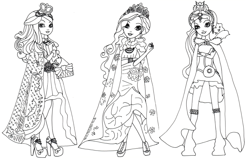 8 dessins de coloriage ever after high a imprimer  u00e0 imprimer