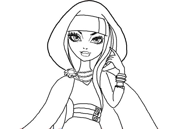 12 dessins de coloriage ever after high cerise hood 224 imprimer