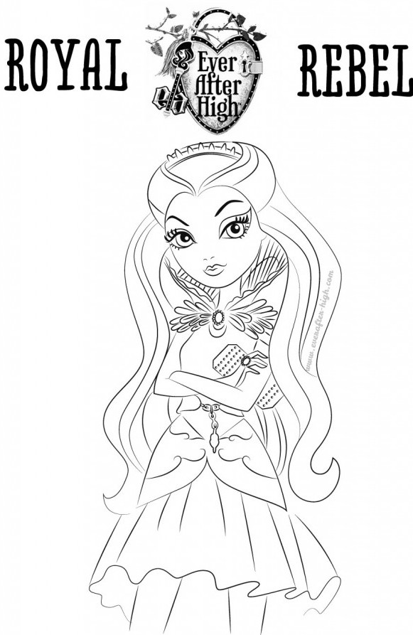 3 dessins de coloriage ever after high cerise imprimer - Dessin cerise ...
