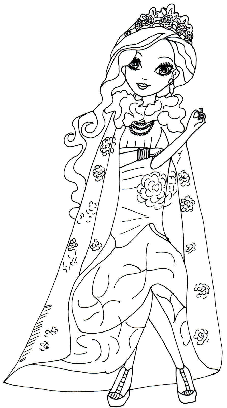 15 dessins de coloriage ever after high holly o 39 hair - Coloriage prin ...