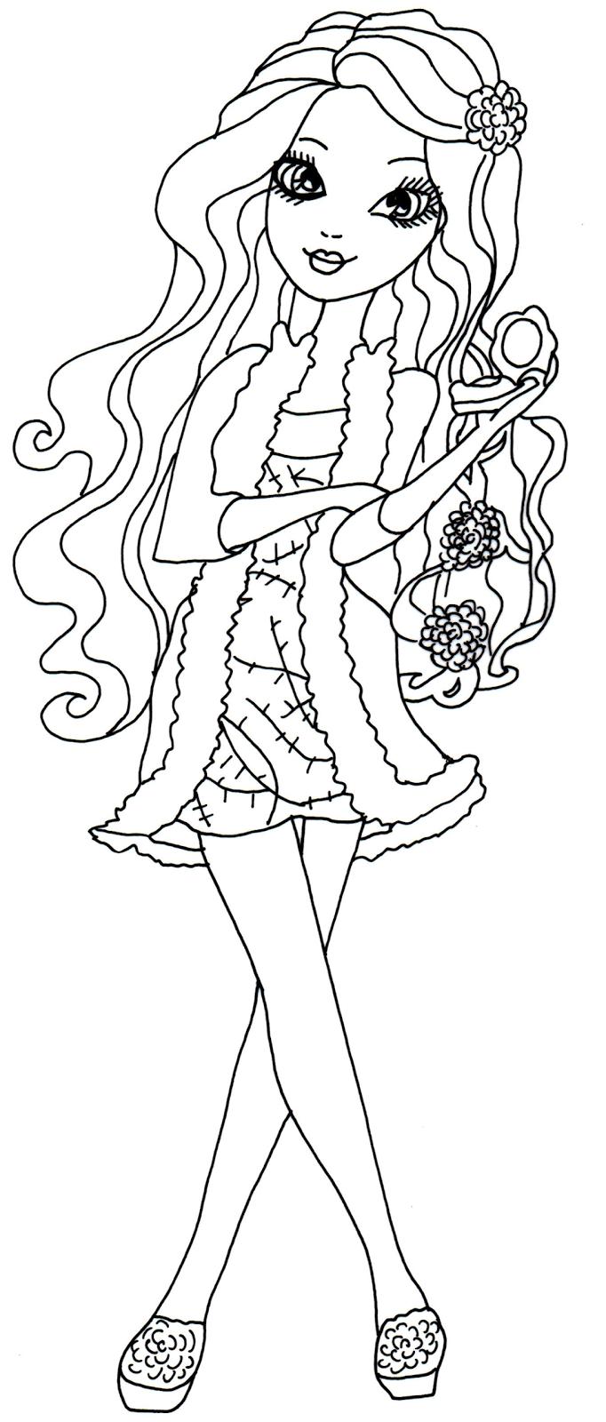 15 dessins de coloriage ever after high holly o 39 hair - Moxie girlz pagine da colorare ...